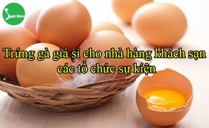 Trứng gà giá sỉ cho nhà hàng khách sạn, các tổ chức sự kiện